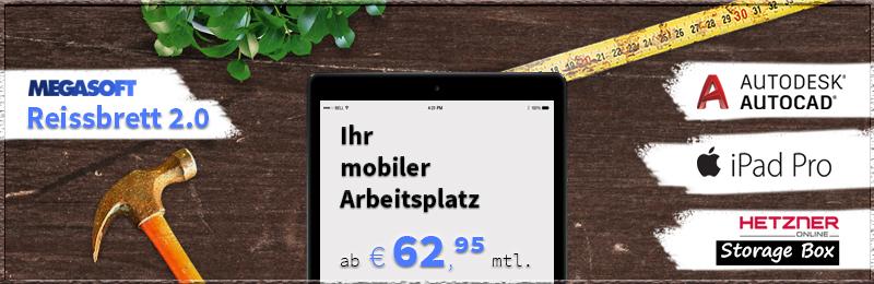 megasoft Reissbrett 2.0 - Ihr mobiler Arbeitsplatz ab 62,95 Euro/Monat